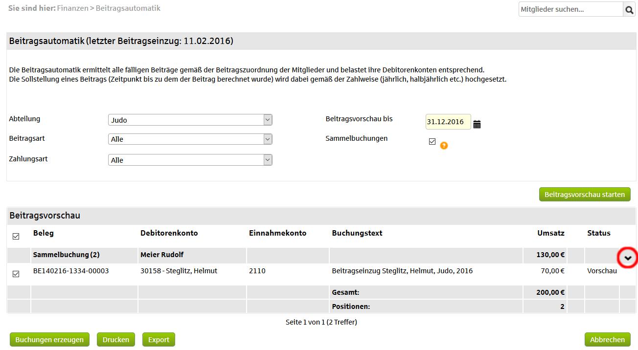 Beitragseinzug per Rechnung oder Lastschrift | Online-Hilfe S-Verein